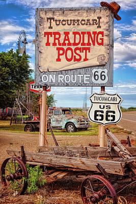 Tucumcari Trading Post Sign Art Print by Diana Powell