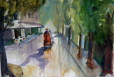 Painting - Tudo Street, Saigon 9 by Tom Simmons
