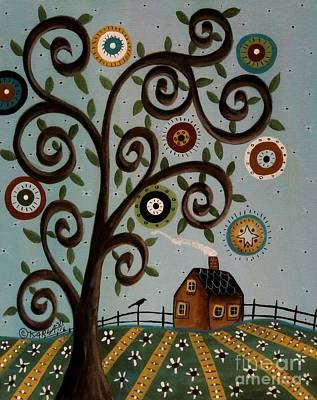 Folk Art Painting - Tuesday 1 by Karla Gerard