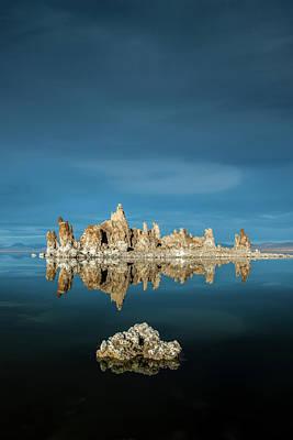 Mono Lake Photograph - Tufa Reflections by Joseph Smith