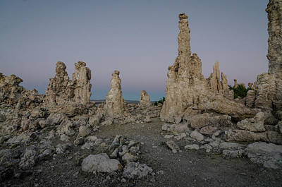 Photograph - Tufas At Dusk No.2 by Margaret Pitcher