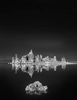 Tufas Reflecting In Mono Lake Art Print by Joseph Smith