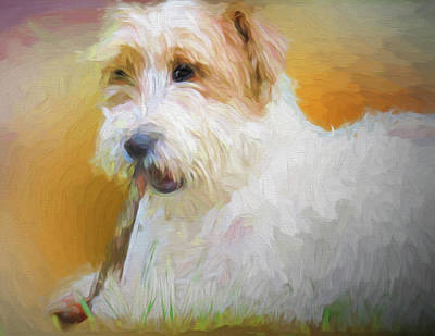 Digital Art - Tuffy The Russell Terrier by Rusty R Smith