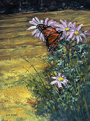 Tuft Of Flowers Art Print by Ken Fiery