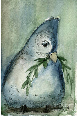Painting - Tufted Tit by Laurie Rohner