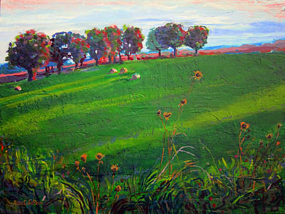 Grafton Painting - Tufts In Early Autumn by Allison Coelho Picone
