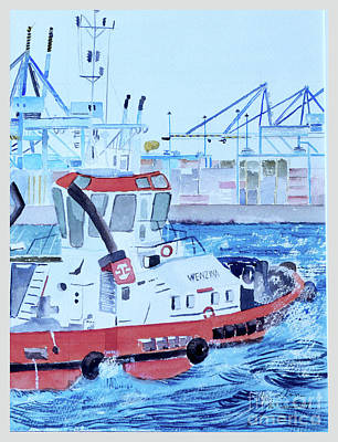 Painting - Tug Boat by Godwin Cassar