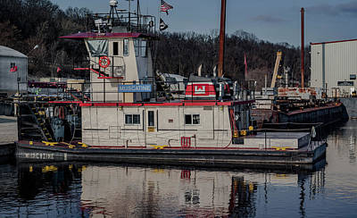 Photograph - Tug Boat Muscatine by Ray Congrove