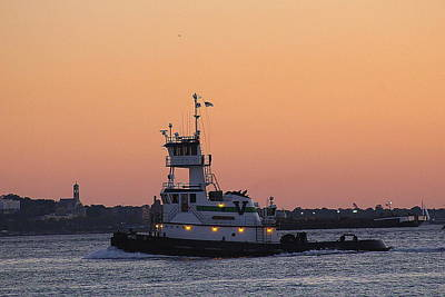 Photograph - The Golden Hour Over New York Harbor by Dora Sofia Caputo Photographic Design and Fine Art