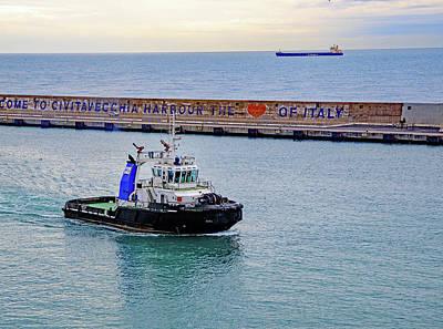 Photograph - Tug Boat Vastaso In Civitanecchia Harbour  by Allan Levin