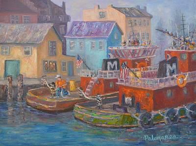 Tug Boats Portsmouth Maritime Painting Art Print