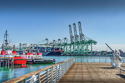 Photograph - Tug Boats Provide Enhanced Docking Safety For All Vessels by David Zanzinger