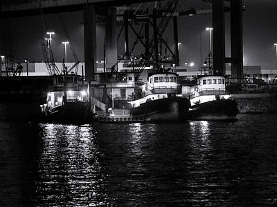 Waterscape Photograph - Tug Club Bw by Denise Dube