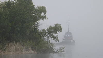 Photograph - Tug In The Fog by Dennis Pintoski