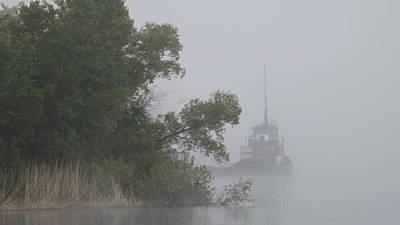 Photograph - Tug In The Fog by Dennis Pintoski