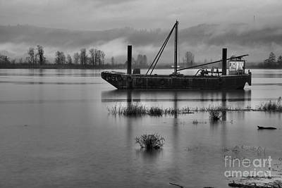 Photograph - Tug In The Gorge Black And White by Adam Jewell