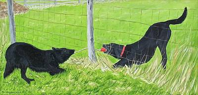 Painting - Tug-o-war by Barb Pennypacker