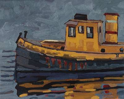 Painting - Tug With No-name by Phil Chadwick