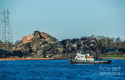 Photograph - Tugboat And Rubble by Grace Grogan