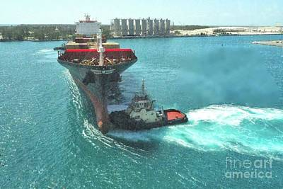 Photograph - Tugboat At Freeport, Grand Bahamas Harbor by Janette Boyd
