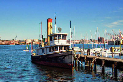 Photograph - Tugboat Baltimore At The Museum Of Industry by Bill Swartwout Fine Art Photography