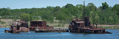 Photograph - Tugboat Graveyard by Kenneth Cole