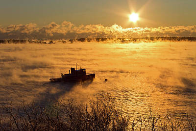 Photograph - Tugboat In The Smoke by Ed Fletcher