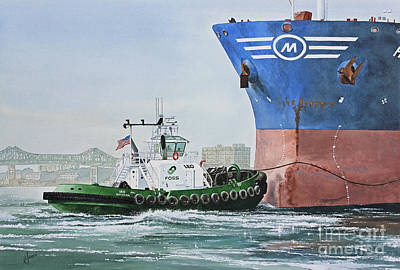 Boston Painting - Tugboat Leo Foss by James Williamson