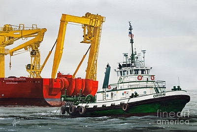 Orion Painting - Tugboat Orion Foss by James Williamson