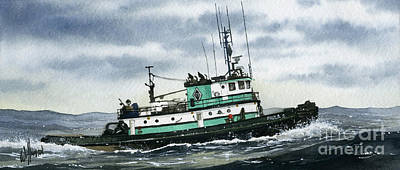 Painting - Tugboat Paula S by James Williamson