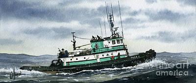 Tugboat Paula S Art Print