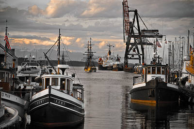 Tugs And Lady Washington Art Print by Craig Perry-Ollila