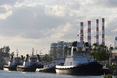 Photograph - Tugs by Ed Gleichman
