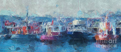 Tugs Together  Art Print