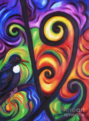 Tui And Koru Art Print by Dianne  Connolly