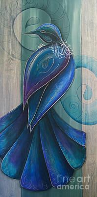 Painting - Tui Bird 3 by Reina Cottier