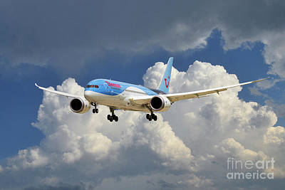 Boeing 787 Dreamliner Digital Art - Tui Boeing 787 Dreamliner by J Biggadike