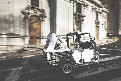 Tuk Tuk Photograph - Tuk Tuk In Front Of The Cathedral by Andre Goncalves