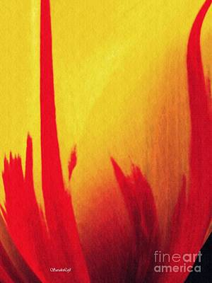 Photograph - Tulip Abstract 1 by Sarah Loft
