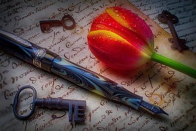 Photograph - Tulip And Fountain Pen by Garry Gay