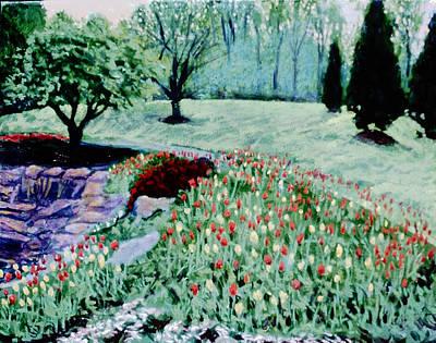 Tulip Bed And Rock Garden Original