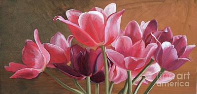 Wall Art - Painting - Tulip Bouquet by Arlene Kelley