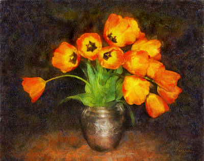 Digital Art - Tulip Bouquet by Francesa Miller