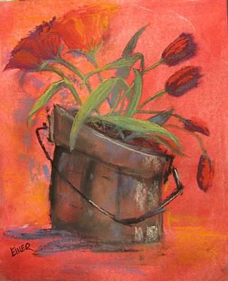 Tulip Bucket Art Print