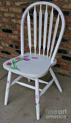 Painting - Tulip Chair by Susan Herber