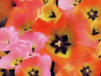 Mixed Media - Tulip Dance 9 by Lynda Lehmann