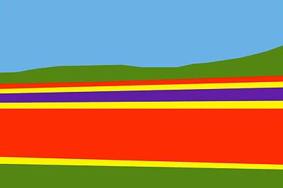 Digital Art - Tulip Field by Roger Lighterness