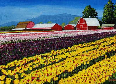 Painting - Tulip Fields by Brett Winn