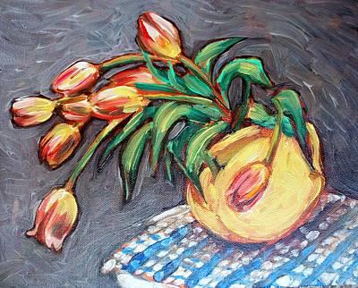 Painting - Tulip Fiesta by Sheila Tajima