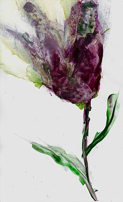 Mixed Media - Tulip For Canada Day by Cynthia Matthews